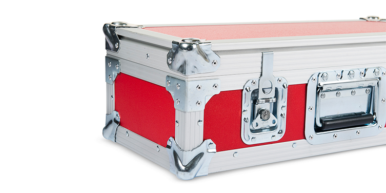 Flightcase Red Closeup