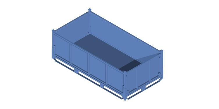 Contenedores met licos apilables para embalaje industrial - Contenedores metalicos apilables ...