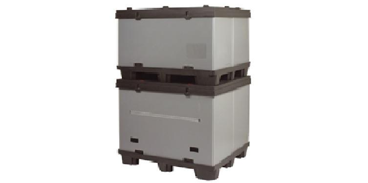 Contenedores y box de pl stico apilables para embalaje - Contenedores metalicos apilables ...