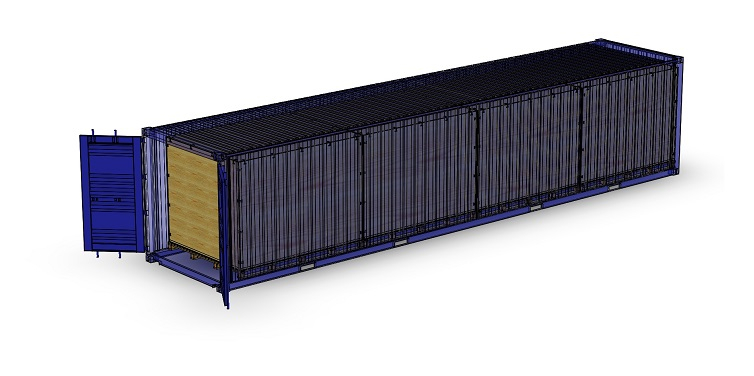 Standardlåda i 40' container